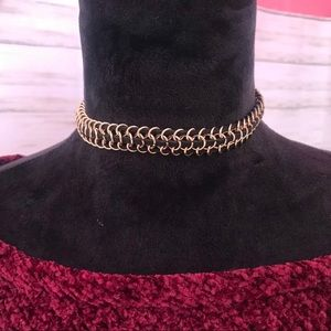 Jewelry - NWOT Gold and Black Chocker